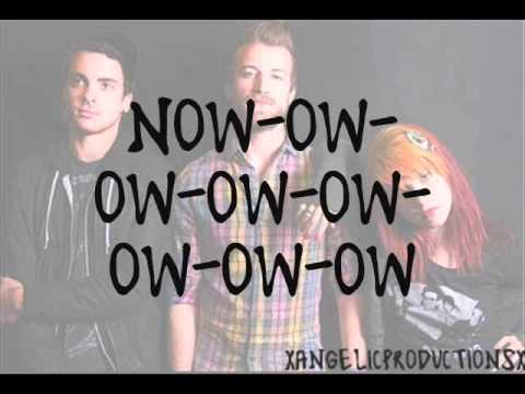 Paramore - Now (lyrics)