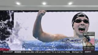 Katie Ledecky Breaks World Record In 400 Freestyle - Rio Olympics 2016
