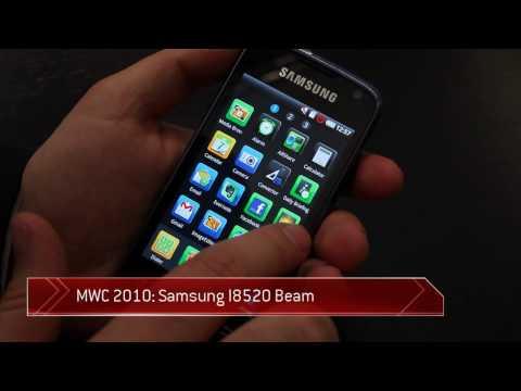 Samsung I8520 Beam user interface