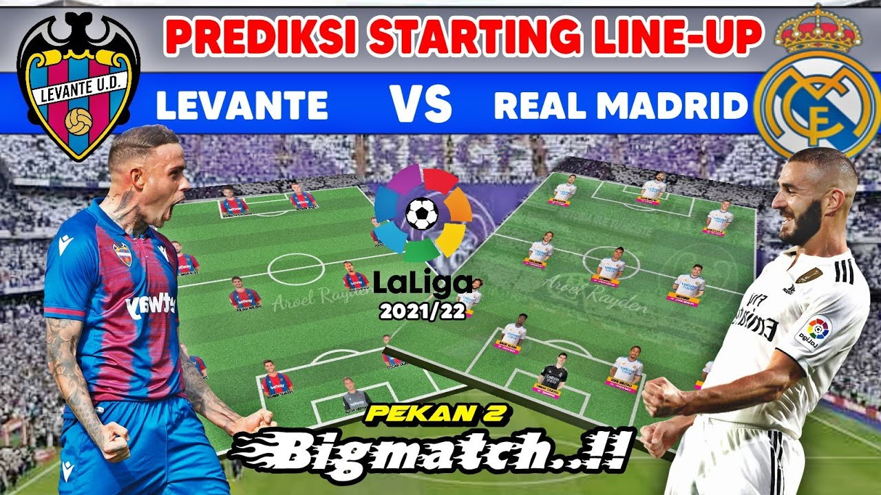 CONFIRMED lineups: Levante vs Real Madrid, 2021 La Liga