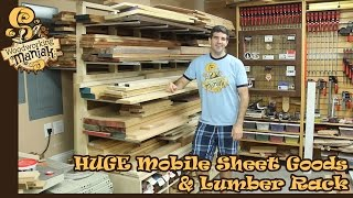 Huge Mobile Sheet & Lumber Rack