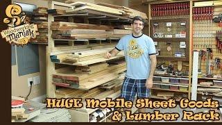 HUGE Mobile Sheet & Lumber Rack