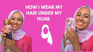 How I Style My Hair Under My Hijab #shorts