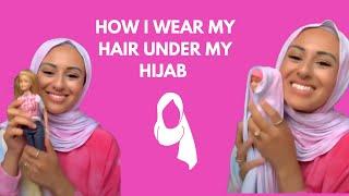 How I Style My Hair Under My Hijab #shorts