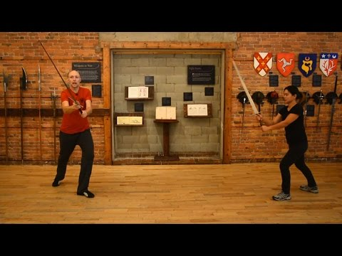 Longsword sample lesson: cutting down from the right, up from the left