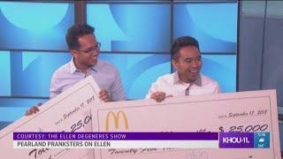 McDonald's pranksters from Pearland get big surprise from Ellen