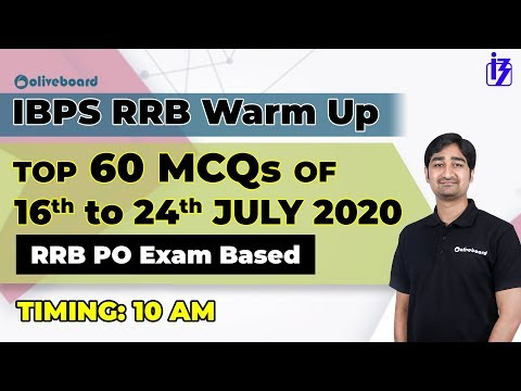 Top 60 MCQs July 16 To July 24 2020   IBPS RRB   IBPS RRB Warm Up