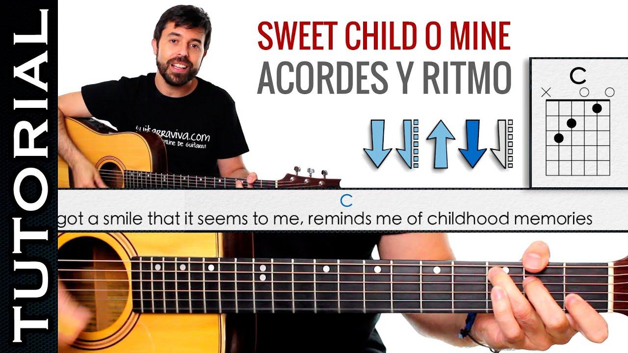 como tocar los acordes de Sweet Child O Mine | TUTORIALES DE CANCIONES