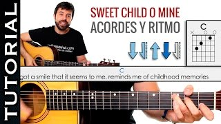 como tocar los acordes de Sweet Child O Mine