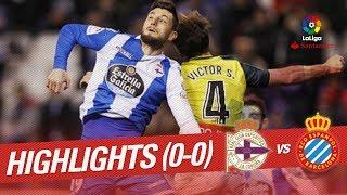 Resumen de RC Deportivo vs RCD Espanyol (0-0)