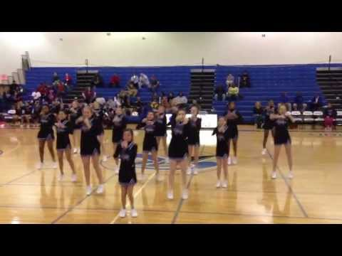 Rockvale Middle School Basketball 2012-2013 Cheer! Hope is the top in the pyramid!