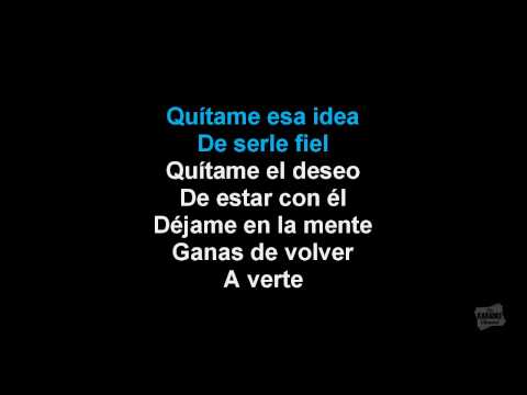 Quítame Ese Hombre in the style of Pilar Montenegro karaoke video with lyrics