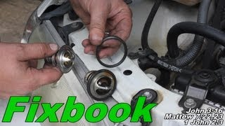 """Coolant Thermostat Remove & Replace """"How to"""" 96-01 Toyota Camry"""