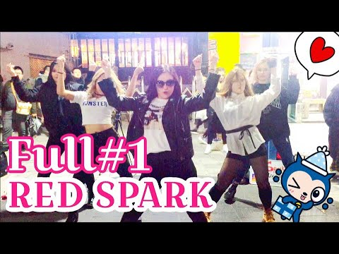"""[K-POP In Public] 181119 """"RED SPARK"""" Cover Dance Hongdae Busking 홍대"""
