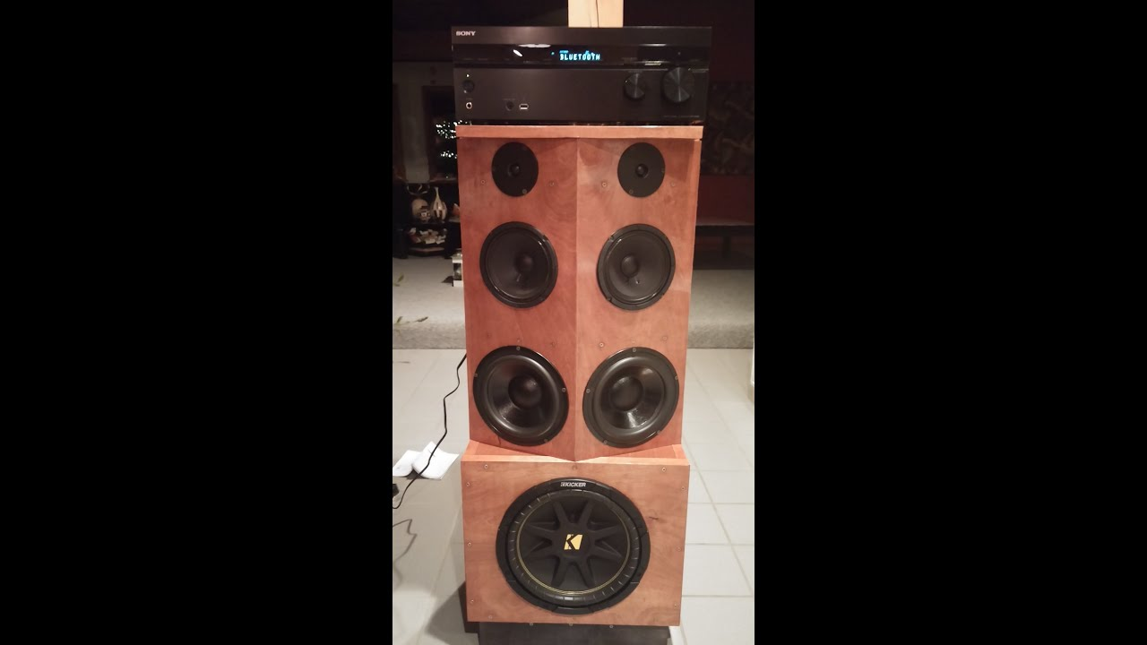 Homemade Stereo Speaker Cabinet   YouTube