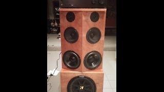 Homemade Stereo Speaker Cabinet