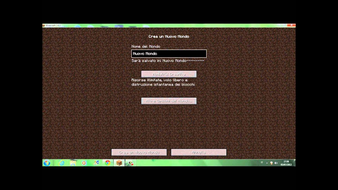 Come creare un mondo su Minecraft | Salvatore Aranzulla