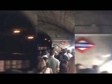 Desalojo en el metro de Madrid tras la explosión de un portátil en el interior de un vagón