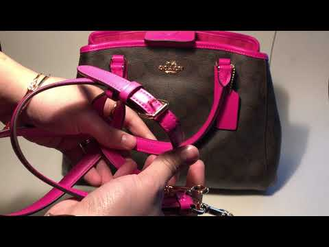ASMR Coach purse viewing. Beautiful purse sounds.