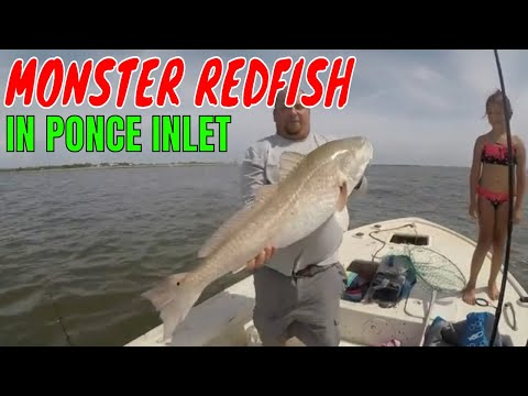 CATCHING MONSTER REDFISH IN PONCE INLET FLORIDA