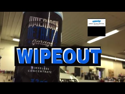 American Detailer Garage WIPEOUT!  Rinseless Wash Concentrate! Hybrid Wash For Variety Of Surfaces!