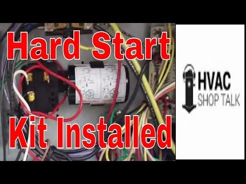 hvac repair installing a hard start kit hvac repair installing a hard start kit