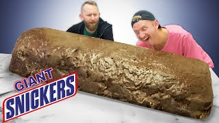 We Made a Giant Snickers Bar!!! Ft. Matthias!
