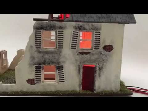 Fire/ Burning Building Lighting Kit