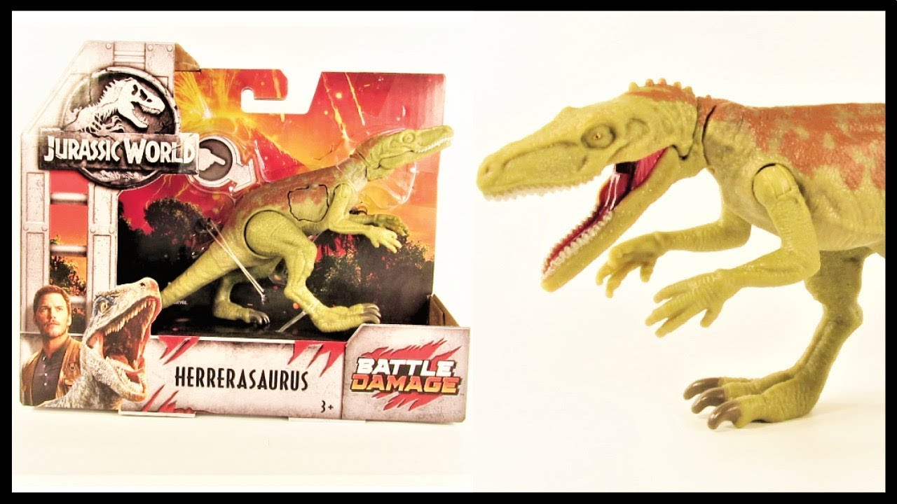Jurassic World Mattel Battle Damage Herrerasaurus New Dinosaur