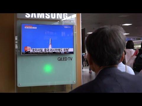 People in S.Korea react to N.Korean missile test