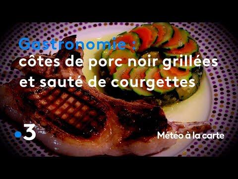 gastronomie-:-côtes-de-porc-noir-grillées-et-sauté-de-courgettes---météo-à-la-carte