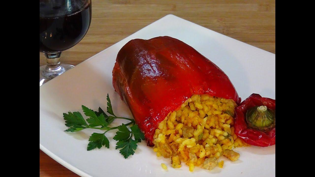 Receta pimientos rellenos de arroz y carne recetas de - Como hacer pimientos verdes fritos ...