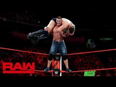 John Cena vs. The Miz - Loser Enters the Elimination Chamber First: Raw, Feb. 12, 2018