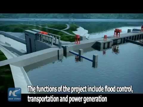 How the world's most sophisticated shiplift works at the Three Gorges Dam in C China's Hubei