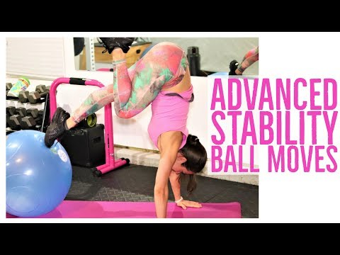 Advanced stability ball exercises - challenging core moves
