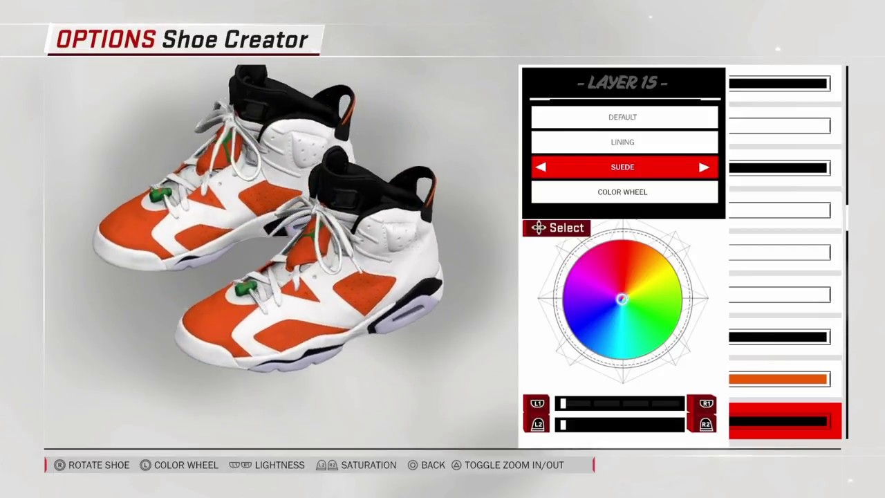 c7a9336e8b4d NBA 2K18 Shoe Creator - Air Jordan 6
