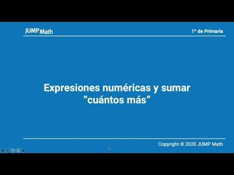 1. Unidad 9. Expresiones numéricas y sumar cuántos más