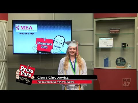 Champions 2020 - Cierra Chropowicz of Vandercook Lake High School