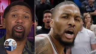 Jalen Rose reacts to the missed goaltending call on Damian Lillard