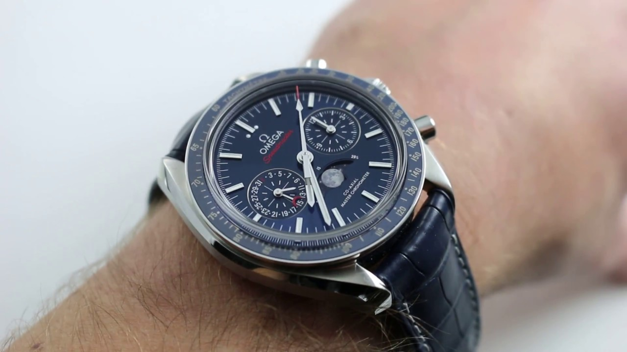 0708b53f547d1 Omega Speedmaster Moonphase Chronograph Master Chronometer Ref.  304.33.44.52.03.001 Watch Review