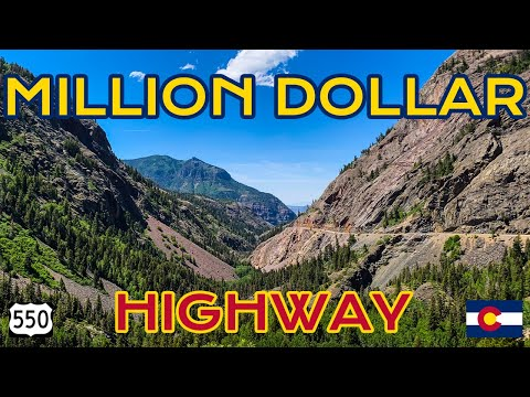 MILLION DOLLAR HIGHWAY Most Scenic Drive in the UNITED STATES   Colorado Route 550