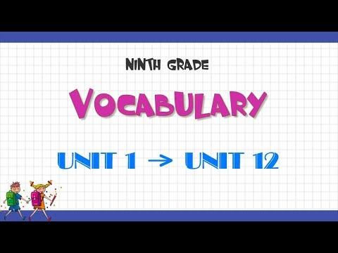Từ vựng tiếng Anh lớp 9 – Chương trình mới – Trọn bộ 12 bài