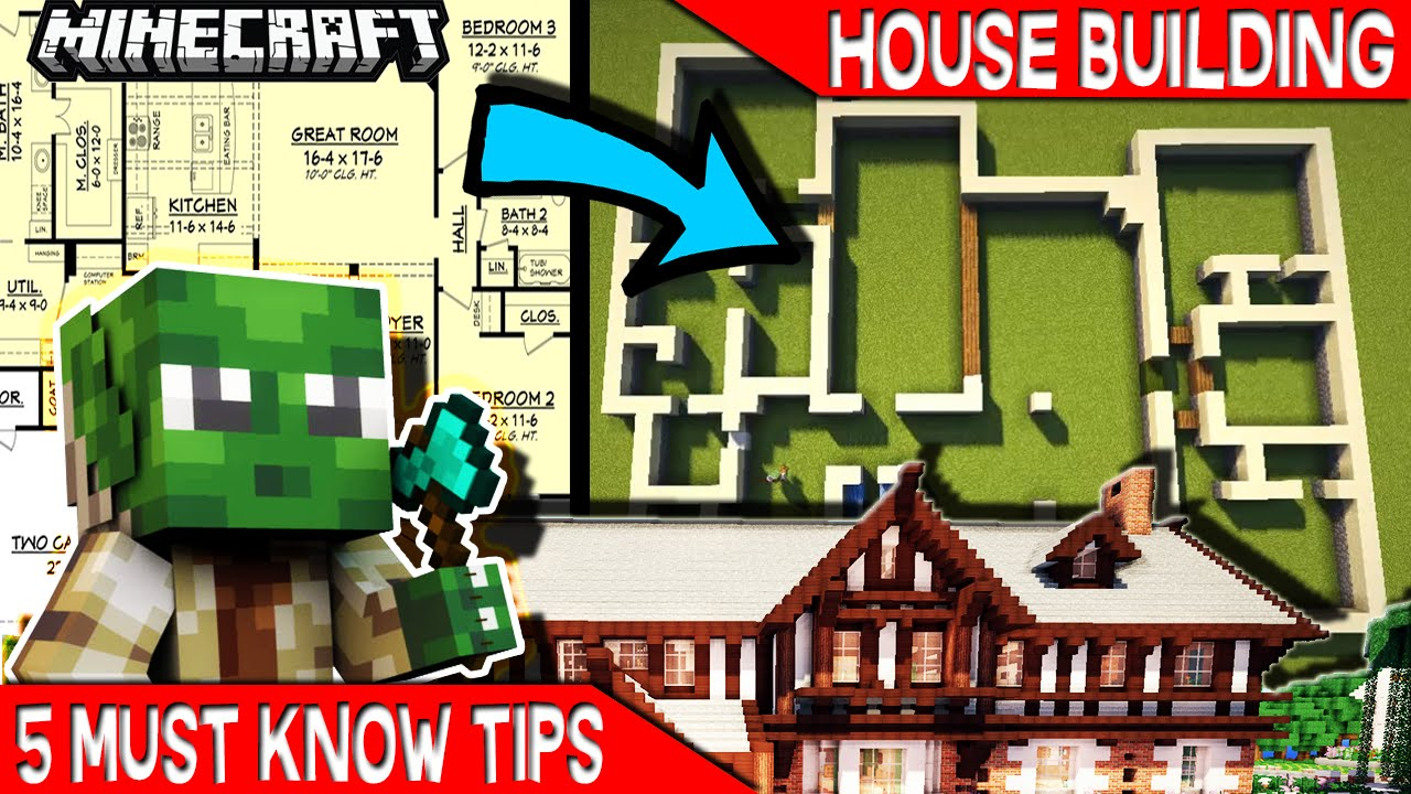 House Building Tips 5 Must Know Tips For Minecraft House Builders   Youtube