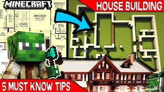 5 easy must know steps for minecraft house building. Creative building made clear with this helpful tips and tricks easy tutorial.