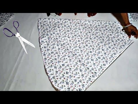 Long Umbrella Frock Cutting And Stitching In Hindi