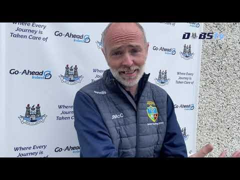 Bainisteoir Naomh Jude John McCarthy speaks to DubsTV following victory over St Vincents