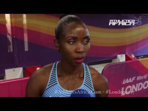 Lydia Jele (Botswana) on teammate Isaac Makwala's condition - London 2017 IAAF World Championships