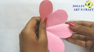 DIY Flower Shaped Paper Basket (Easy Way) | Easter Basket | Cute Paper Basket with Colour Paper