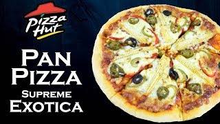 make pan pizza at home like pizza hut supreme exotica pan pizza simply yummylicious