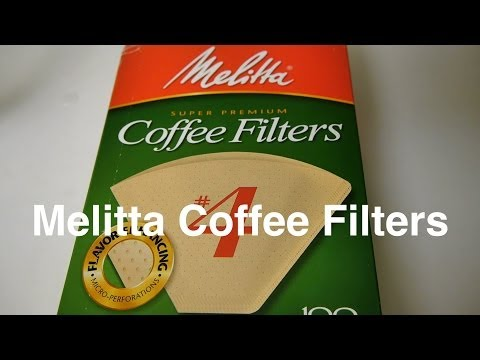Melitta Coffee Filters in #4 Size Cone Unbleached Natural Brown Paper Filter For | Otaku Coffee